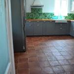 Küche Bodenfliesen Wand Und Geben Einem Neubau Charakter Nobilia Ikea Miniküche Singleküche Mit Kühlschrank Industrie L Elektrogeräten Weisse Wohnzimmer Küche Bodenfliesen