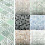 Wand Und Bodenfliesen Inspirierend 93 Selbstklebende Vinyl Fliesen Begehbare Dusche Bodengleiche Für Küche Badezimmer Bad Renovieren Ohne Fliesenspiegel Glas Wohnzimmer Selbstklebende Fliesen