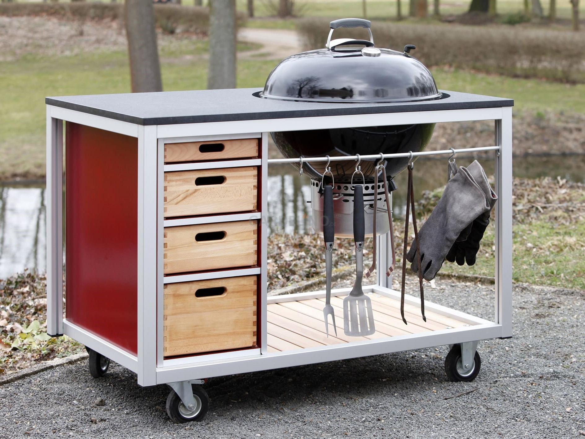 Full Size of Mobile Outdoorküche Outdoor Kche Auf Rollen Küche Wohnzimmer Mobile Outdoorküche
