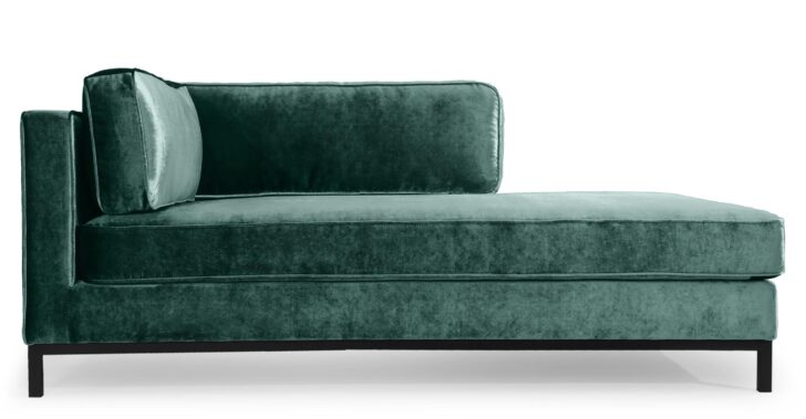 Medium Size of Recamiere Mit Armlehne Links Samt Und Edelstahl Grn Nv Sofa Wohnzimmer Recamiere Samt