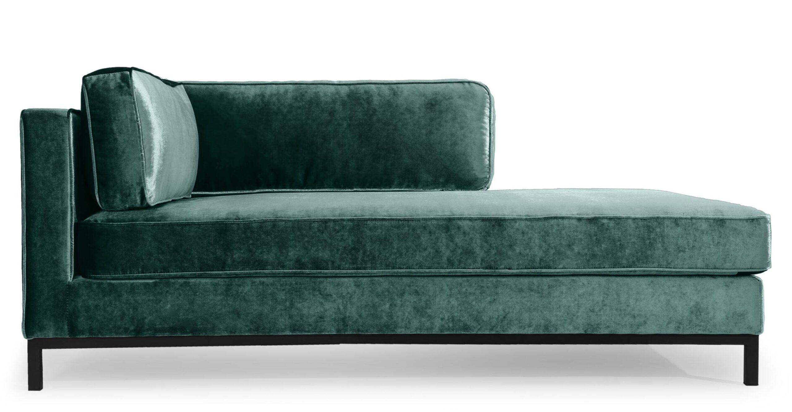 Full Size of Recamiere Mit Armlehne Links Samt Und Edelstahl Grn Nv Sofa Wohnzimmer Recamiere Samt