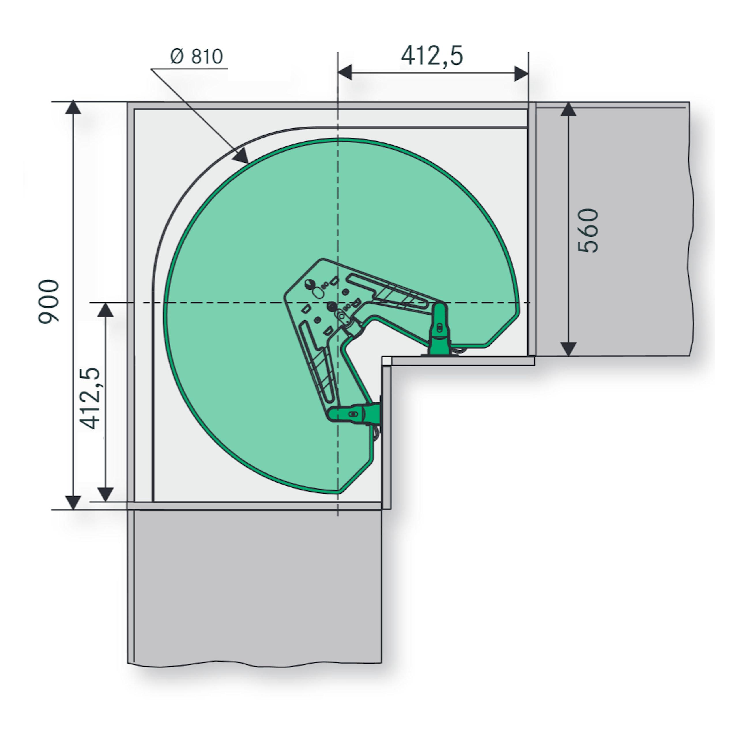 Full Size of Küchenkarussell Kessebhmer Revo 90 Eckschrankbeschlag Fr Eckschrank So Techde Wohnzimmer Küchenkarussell
