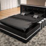Polsterbett 200x220 Asti In Wei Schwarz Moderne Betten Bett Wohnzimmer Polsterbett 200x220