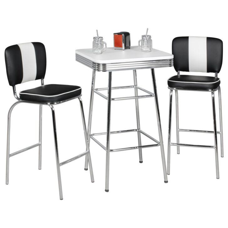 Medium Size of Bartisch 60x100 Cm American Diner Wei Alu Design Retro Usa Küchen Regal Küche Wohnzimmer Küchen Bartisch