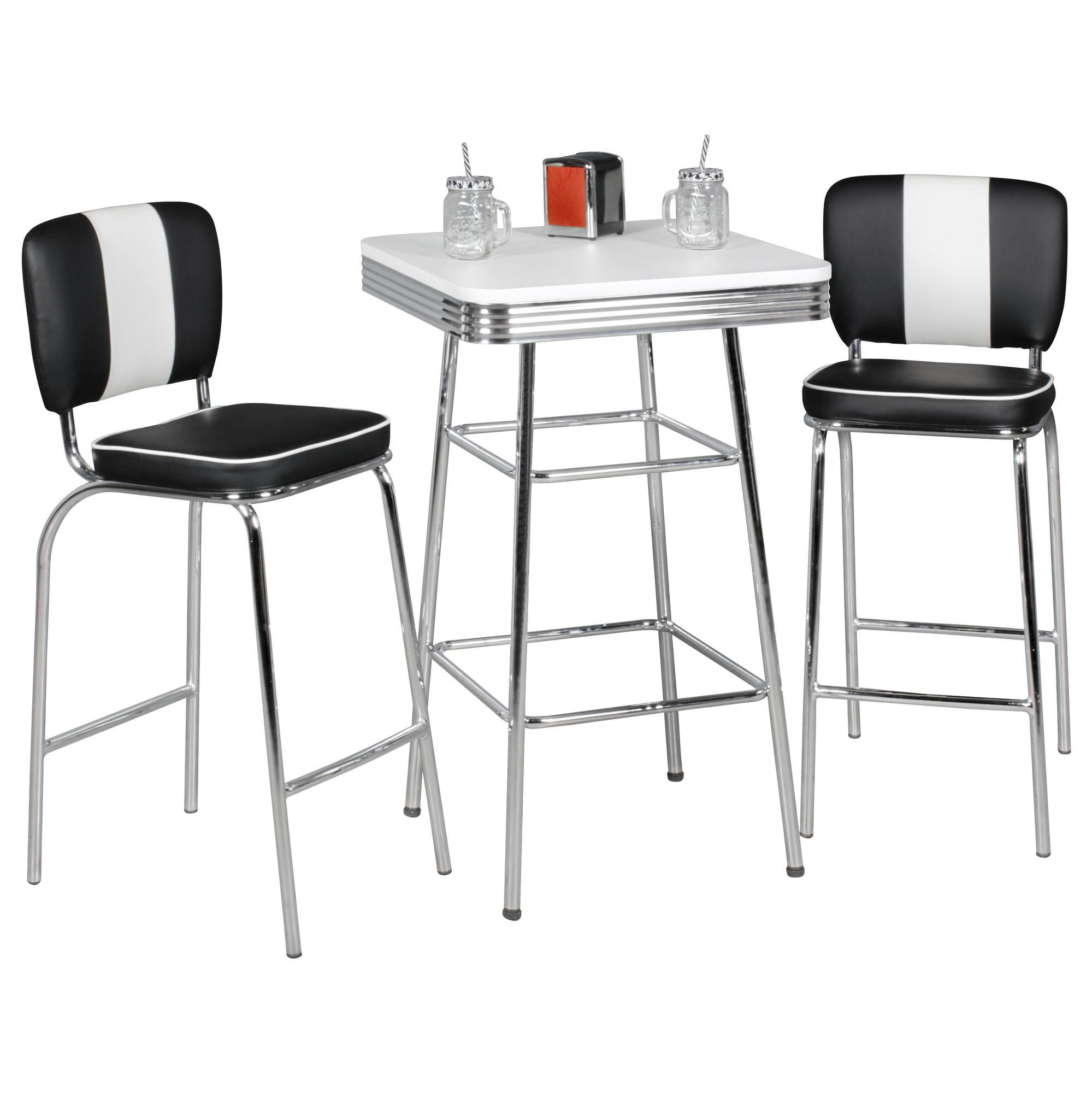 Full Size of Bartisch 60x100 Cm American Diner Wei Alu Design Retro Usa Küchen Regal Küche Wohnzimmer Küchen Bartisch