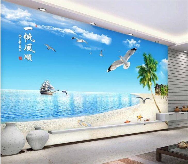 Medium Size of Wohnzimmer Wandbild 3d Fototapete Strand Schiff Tischlampe Poster Beleuchtung Anbauwand Led Teppiche Vorhänge Heizkörper Hängelampe Komplett Indirekte Wohnzimmer Wohnzimmer Wandbild