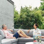 Wohnzimmer Couch Terrasse