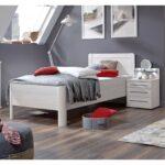 Metallbett 100x200 Wiemann Komfortbett Seniorenbett Nachtschrank Led Mainau Bett Weiß Betten Wohnzimmer Metallbett 100x200