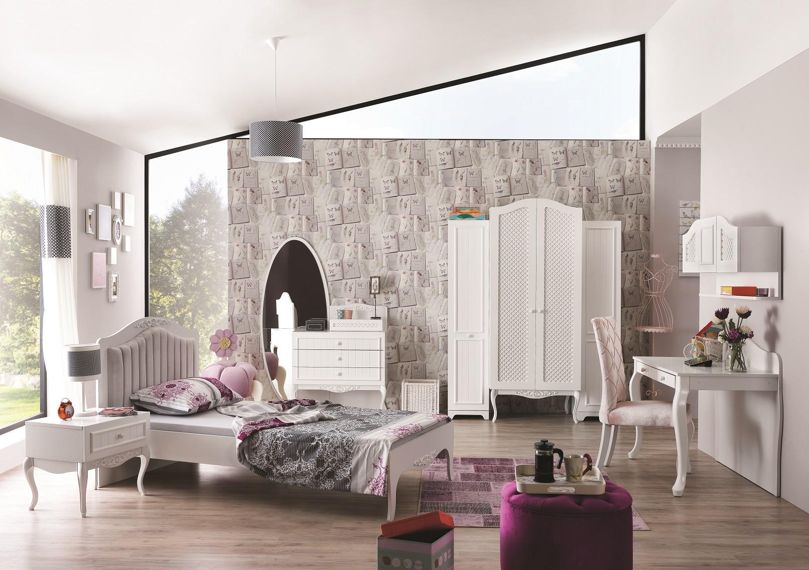 Full Size of Mädchenbetten Kinderbett Mdchenbett In Wei Wohnzimmer Mädchenbetten