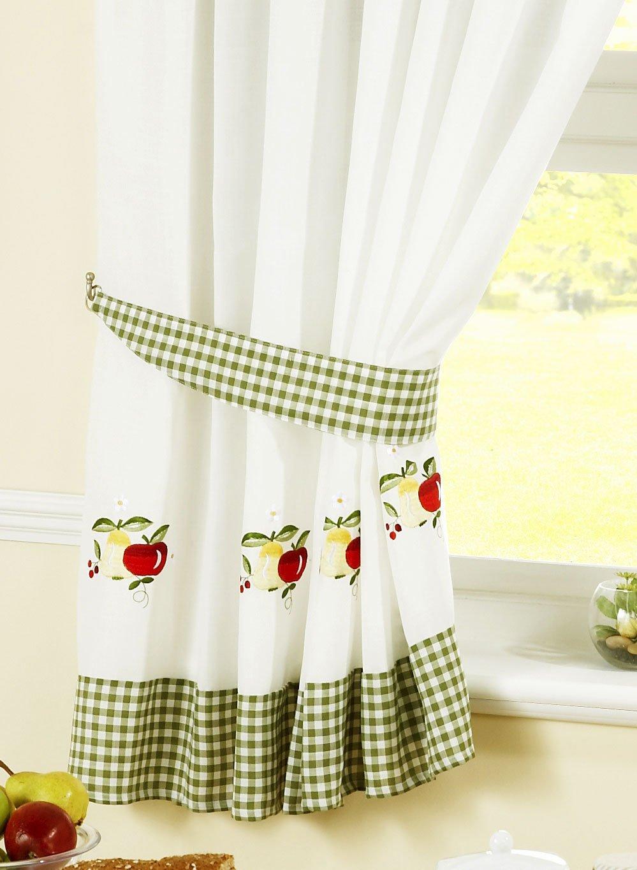 Full Size of Küchenvorhang Amazonde Kchenvorhang Gardine Apfel Und Birnen Grn Rot Kariert Wohnzimmer Küchenvorhang
