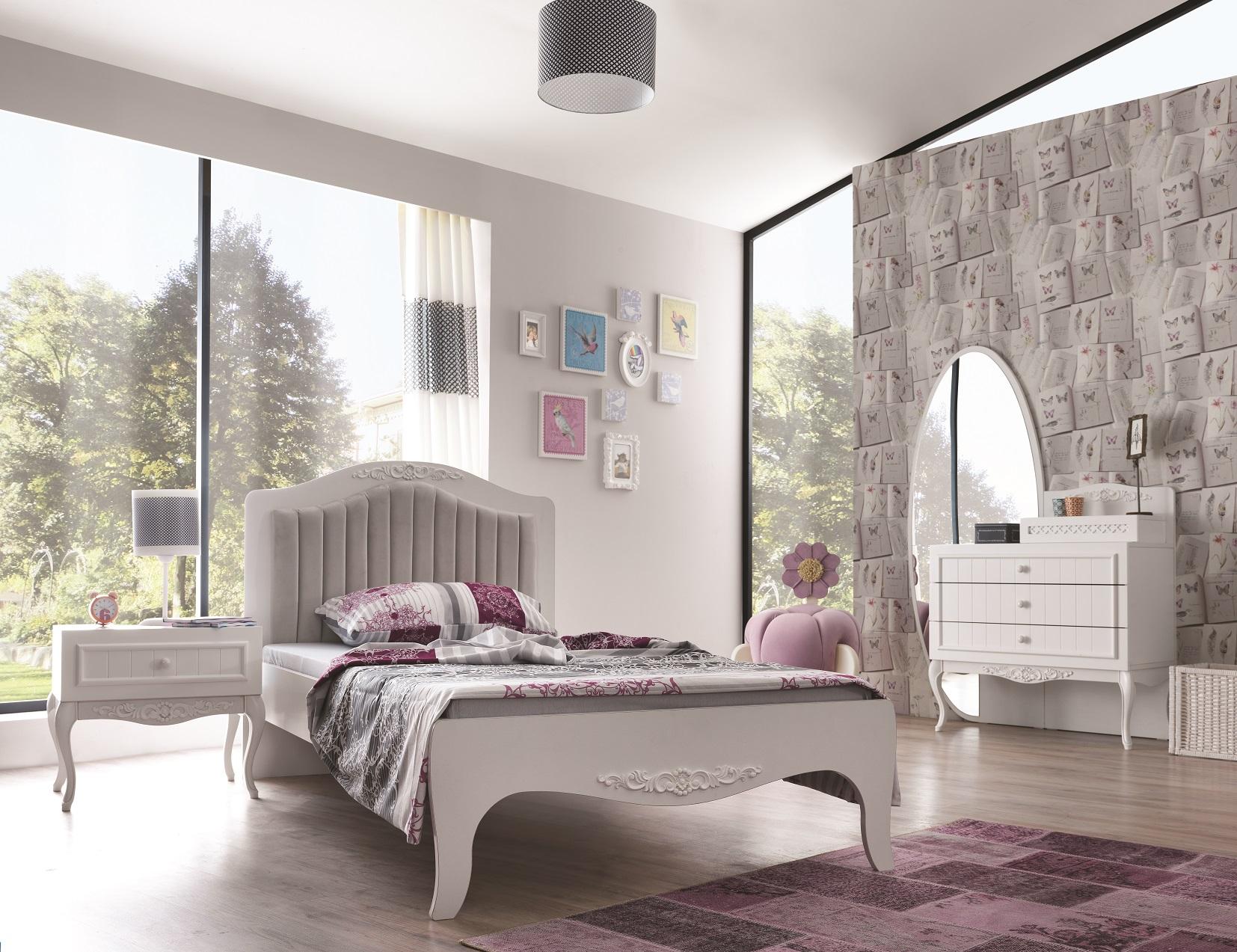 Full Size of Kinderbett Mdchenbett In Wei Wohnzimmer Mädchenbetten