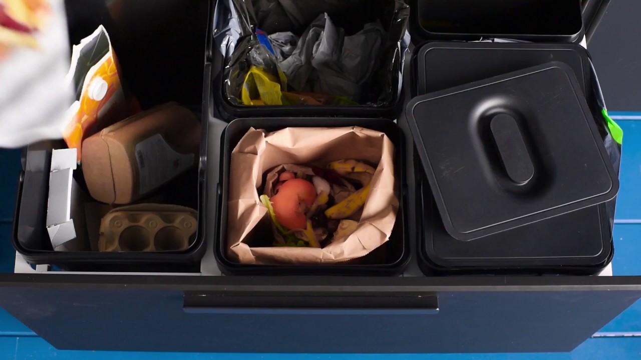 Full Size of Ikea Einfache Abfalltrennung Mit Variera Youtube Landhausküche Jalousieschrank Küche Kreidetafel Gardinen Für Die Sofa Schlaffunktion Modulküche Kosten Wohnzimmer Mülleimer Küche Ikea