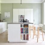 Küche Zweifarbig Wand Streichen Muster Abkleben Luxus Apothekerschrank Klapptisch Rustikal Was Kostet Eine Fliesenspiegel Glas Led Deckenleuchte Wasserhahn Wohnzimmer Küche Zweifarbig