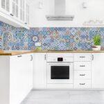 Fliesen Rückwand Küche Kchenrckwand Fliesenspiegel Aufwndige Portugiesische Bauen Holz Weiß Eckküche Mit Elektrogeräten Bodengleiche Dusche Holzküche Wohnzimmer Fliesen Rückwand Küche