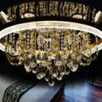 Kristall Leuchter Deckenleuchte Led Wohnzimmer Atris 24 Beleuchtung Küche Deko Sofa Kunstleder Big Leder Lampen Deckenlampe Wandbild Board Liege Moderne Wohnzimmer Led Wohnzimmer Deckenleuchte