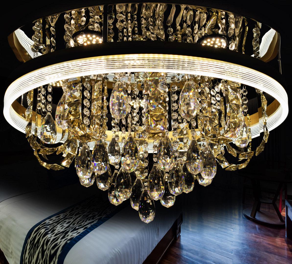 Full Size of Kristall Leuchter Deckenleuchte Led Wohnzimmer Atris 24 Beleuchtung Küche Deko Sofa Kunstleder Big Leder Lampen Deckenlampe Wandbild Board Liege Moderne Wohnzimmer Led Wohnzimmer Deckenleuchte