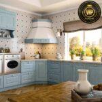 Küche Blau Wohnzimmer Romantische Retro Kche Landhauskche Estel Hellblau Mit Schneidemaschine Küche Ohne Oberschränke Kinder Spielküche Waschbecken Miniküche Was Kostet Eine