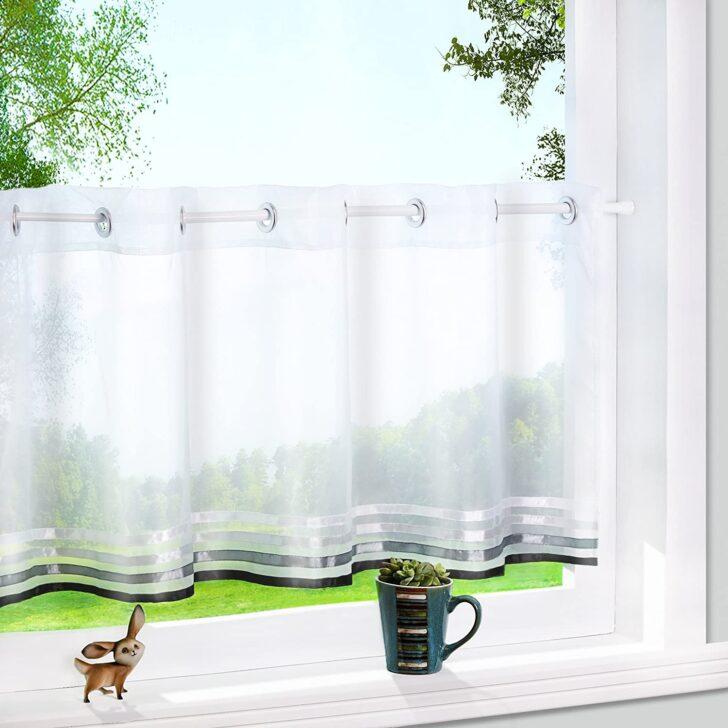 Küchenvorhang Yujiao Mao 1er Pack Voile Scheibengardine Mit Aufgenhten Wohnzimmer Küchenvorhang