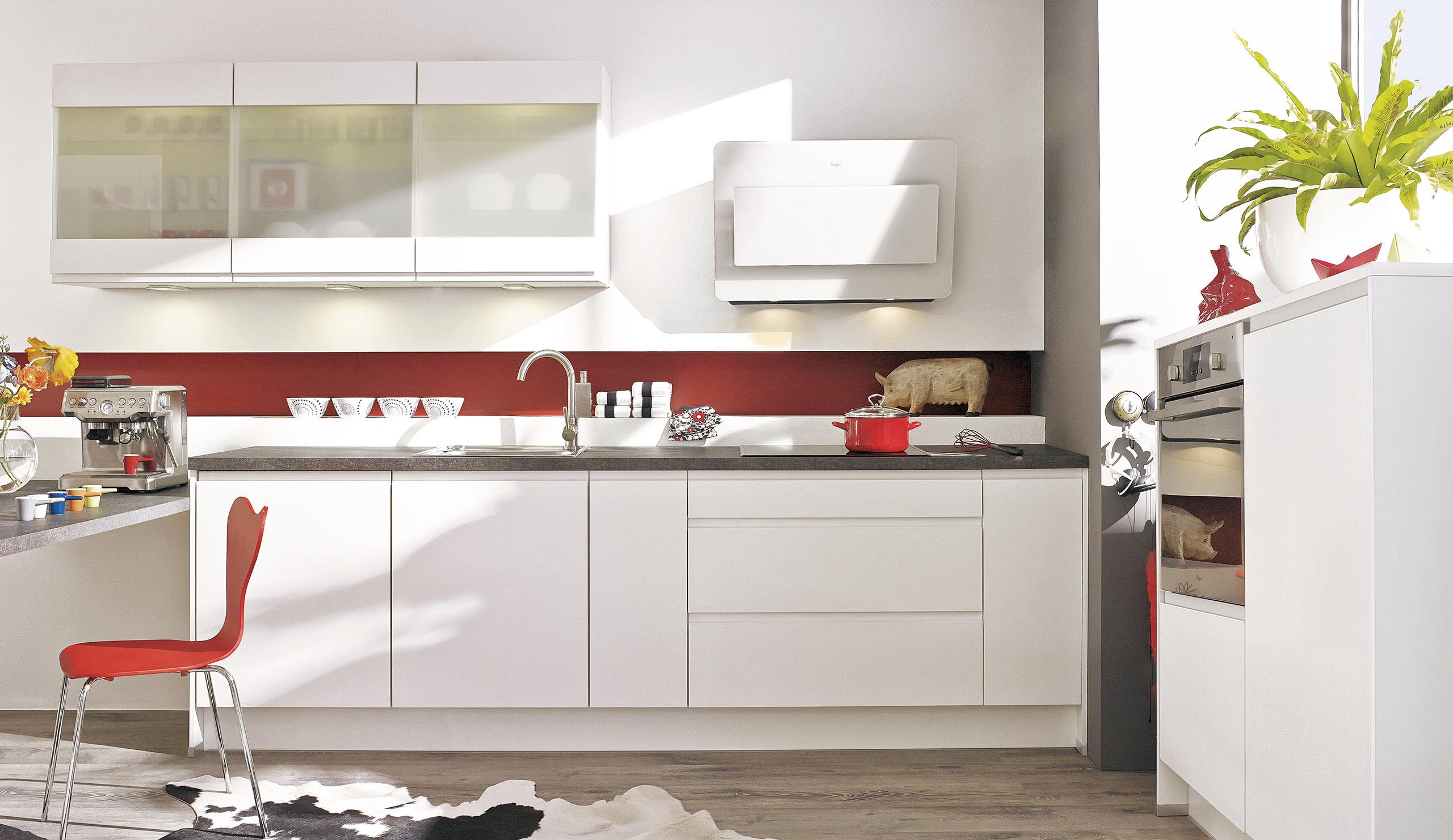 Full Size of Küchen Quelle Basic Einbaukche Pura 0300 Weiss Grifflos Kchenquelle Regal Wohnzimmer Küchen Quelle