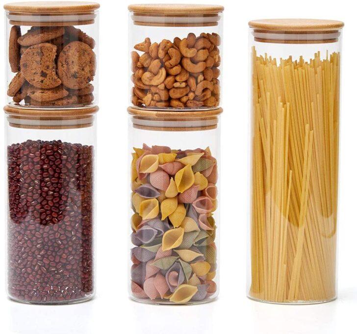 Medium Size of Küchen Aufbewahrungsbehälter Ezoware 5er Set Glas Vorratsdosen Küche Regal Wohnzimmer Küchen Aufbewahrungsbehälter