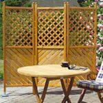 Paravent Outdoor Metall Klappbare Holz Paravents Promondo Regal Weiß Bett Garten Küche Edelstahl Regale Kaufen Wohnzimmer Paravent Outdoor Metall