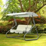 Gartenschaukel Metall Outsunny Hollywoodschaukel Schaukelbank Schaukel Bett Regale Regal Weiß Wohnzimmer Gartenschaukel Metall