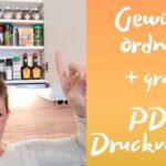 Gewürze Schubladeneinsatz Gewrzregal Ausmisten Und Beschriften Youtube Küche Wohnzimmer Gewürze Schubladeneinsatz
