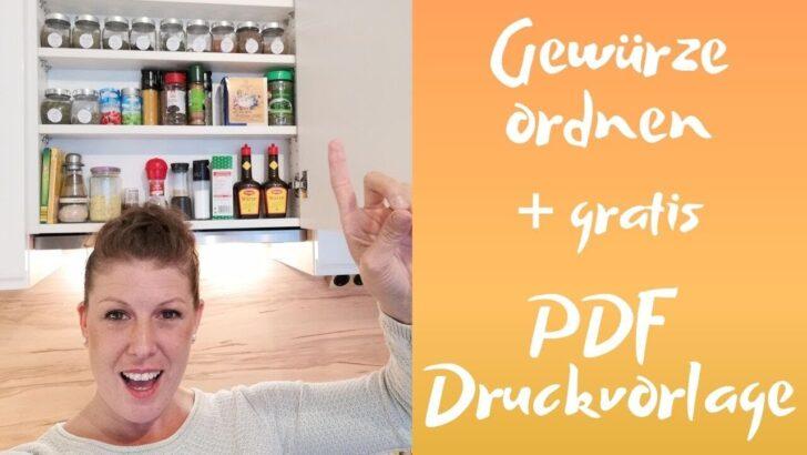 Medium Size of Gewürze Schubladeneinsatz Gewrzregal Ausmisten Und Beschriften Youtube Küche Wohnzimmer Gewürze Schubladeneinsatz