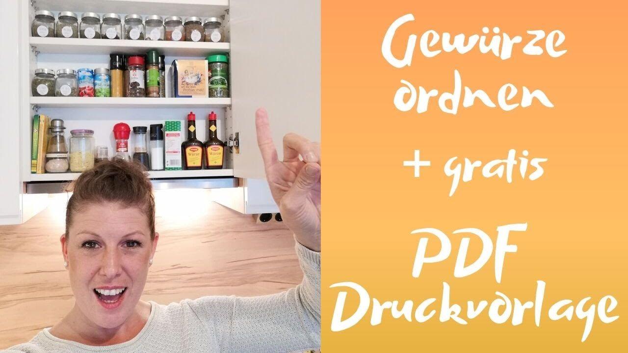 Full Size of Gewürze Schubladeneinsatz Gewrzregal Ausmisten Und Beschriften Youtube Küche Wohnzimmer Gewürze Schubladeneinsatz