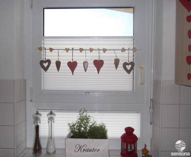 Medium Size of Tolle Fensterdeko Am Kchenfenster Und Dazu Plissees Vom Bauhaus Fenster Insektenschutz Küche U Form Trier Tapeten Für Einbauküche Selber Bauen Led Wohnzimmer Küche Fenster