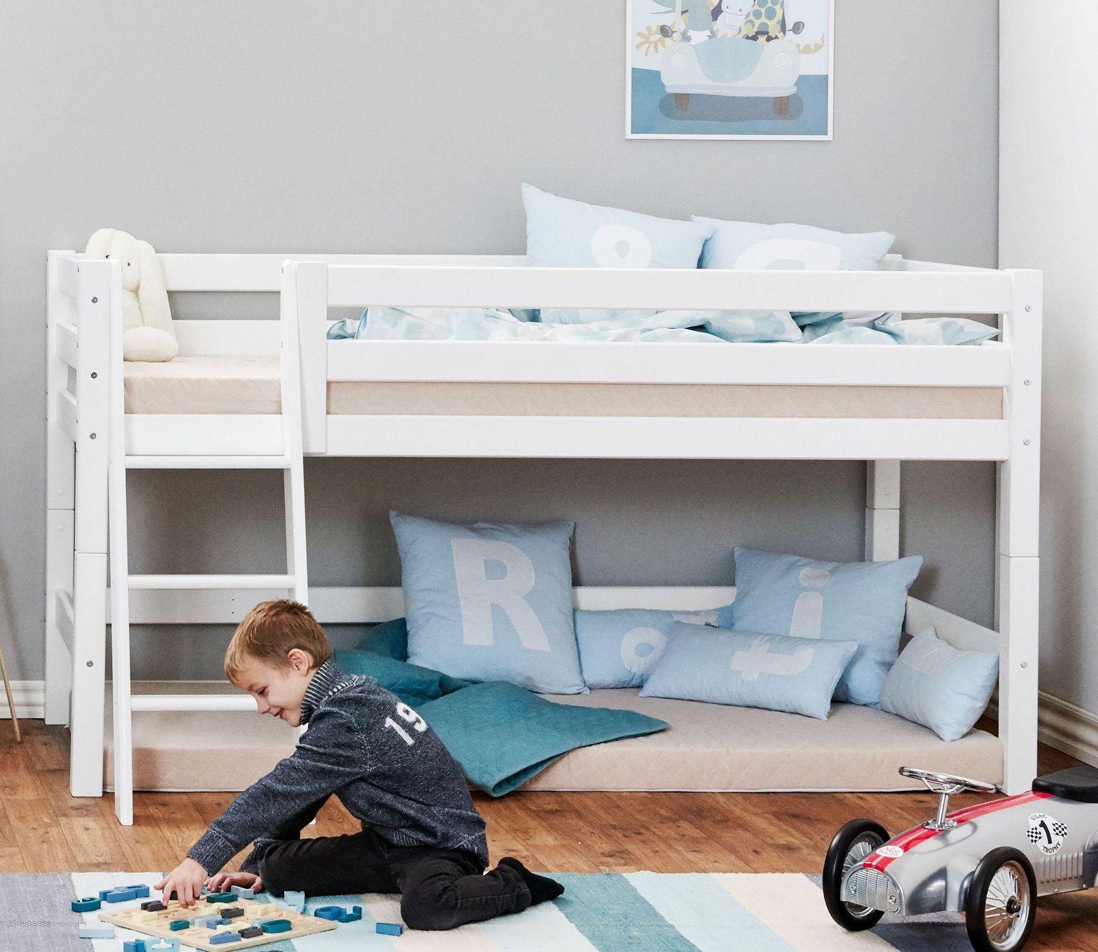 Full Size of Halbhohes Hochbett Halbhochbett Kiefer Wei Mit Lebenslanger Garantie Kids Royalty Bett Wohnzimmer Halbhohes Hochbett