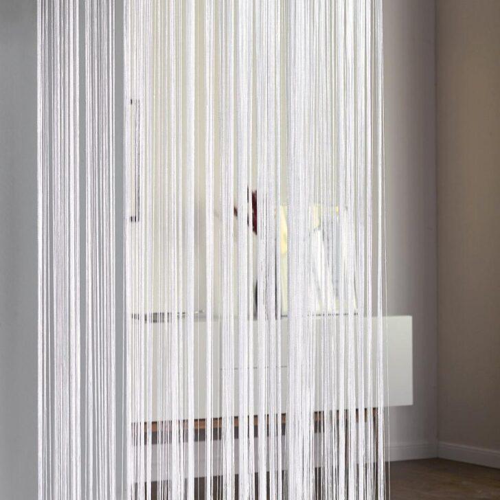 Medium Size of Fadengardine Fadenvorhang In Wei 90x245 Cm Preiswert Bad Vorhang Wohnzimmer Küche Wohnzimmer Vorhang Terrassentür