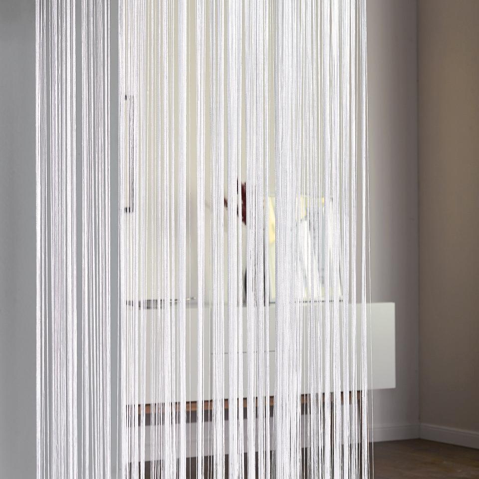 Full Size of Fadengardine Fadenvorhang In Wei 90x245 Cm Preiswert Bad Vorhang Wohnzimmer Küche Wohnzimmer Vorhang Terrassentür