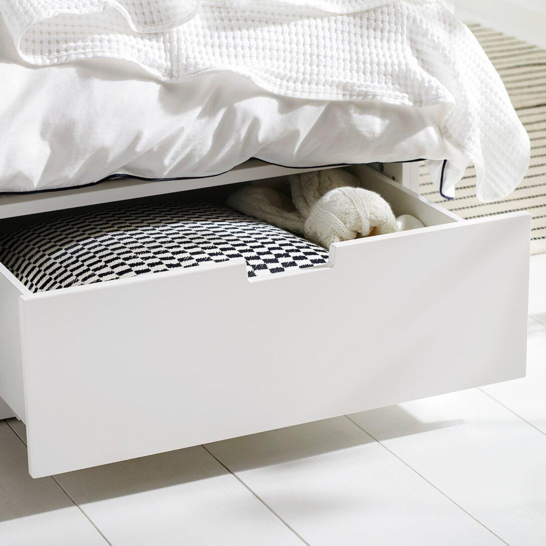 Large Size of Ikea Bett 140x200 Mit Schubladen Nordli Bettgestell Wei Deutschland Nussbaum Bette Badewannen Betten 160x200 2m X Liegehöhe 60 Cm überlänge Massiv Wohnzimmer Ikea Bett 140x200 Mit Schubladen