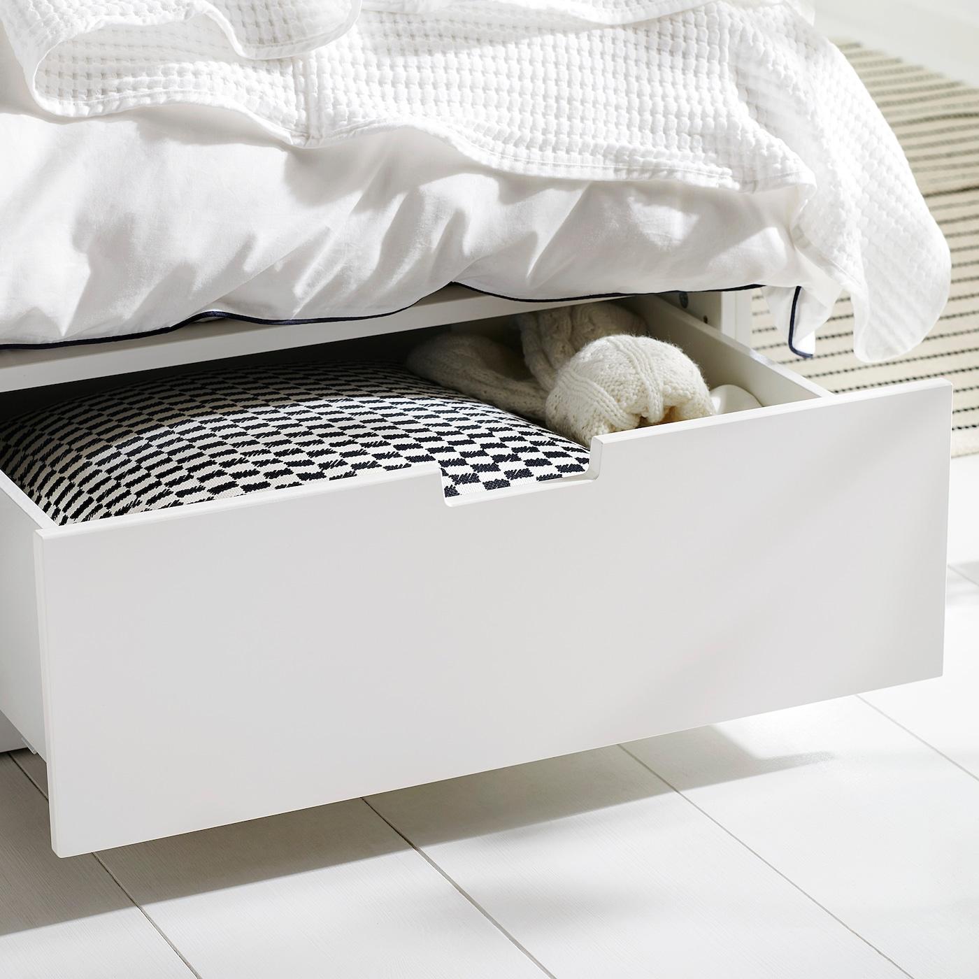 Full Size of Ikea Bett 140x200 Mit Schubladen Nordli Bettgestell Wei Deutschland Nussbaum Bette Badewannen Betten 160x200 2m X Liegehöhe 60 Cm überlänge Massiv Wohnzimmer Ikea Bett 140x200 Mit Schubladen