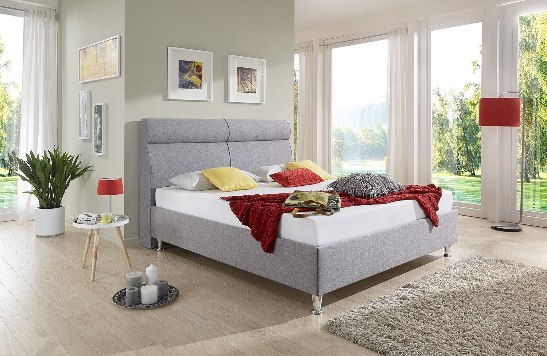 Full Size of Polsterbett 200x220 Breckle Peak Comfort Grau Cm Matratzen Betten Bett Wohnzimmer Polsterbett 200x220