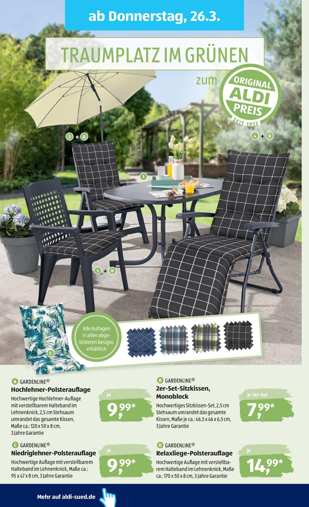 Full Size of Aldi Gartenliege 2020 Sd Aktueller Prospekt 2303 28032020 32 Jedewoche Relaxsessel Garten Wohnzimmer Aldi Gartenliege 2020