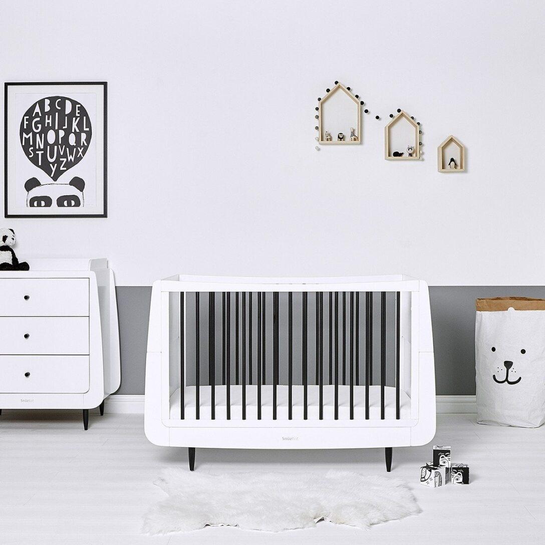 Large Size of Babybett Schwarz Snzkot Skandi In Mono Bett 180x200 Schwarze Küche Schwarzes Weiß Wohnzimmer Babybett Schwarz