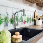 Küchenrückwand Laminat Lieblingsmotive Auf Der Kchenrckwand Unterstreichen Den Ganz Für Küche Im Bad Fürs Badezimmer In Wohnzimmer Küchenrückwand Laminat
