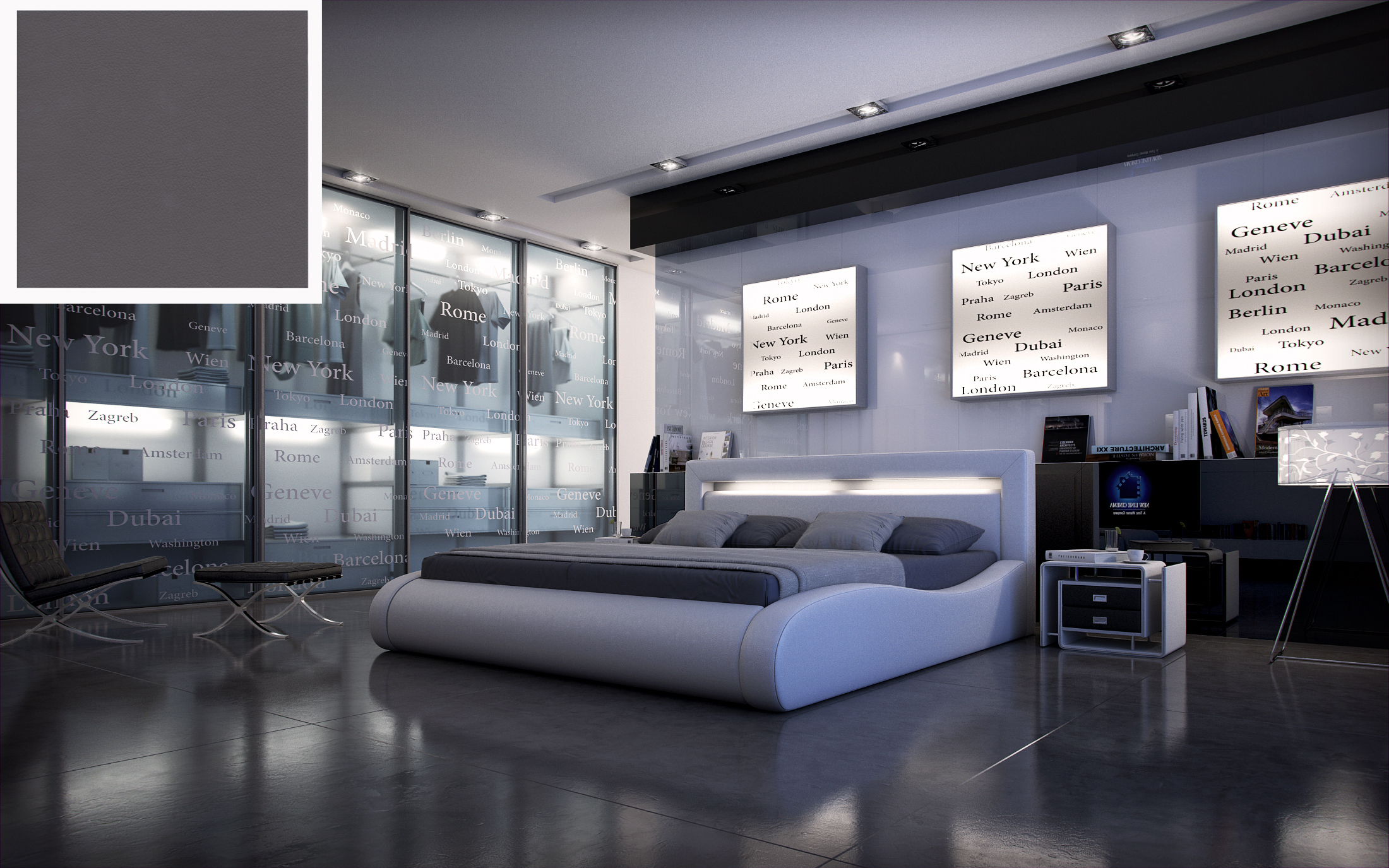 Full Size of Polsterbett Doppelbett 200 220 Cm Led Grau Sprint Ii Betten 200x220 Bett Wohnzimmer Polsterbett 200x220