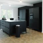 Landhausküche Wandfarbe Ideen Fr Eine Schwarze Kche Planungswelten Moderne Weiß Grau Weisse Gebraucht Wohnzimmer Landhausküche Wandfarbe