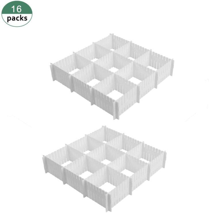 Medium Size of Cozywind 16 Stck Schubladenteiler Set Weie Fachteiler Stecksystem Regal Schubladeneinsatz Küche Wohnzimmer Schubladeneinsatz Stecksystem