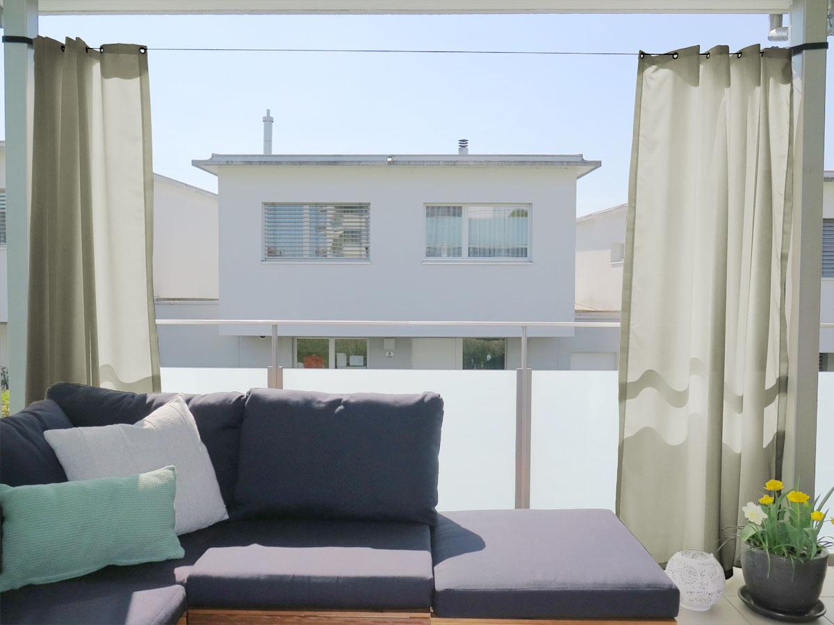 Full Size of Outdoor Vorhang Santorini Nach Mbeige Vorhänge Schlafzimmer Wohnzimmer Küche Wohnzimmer Vorhänge