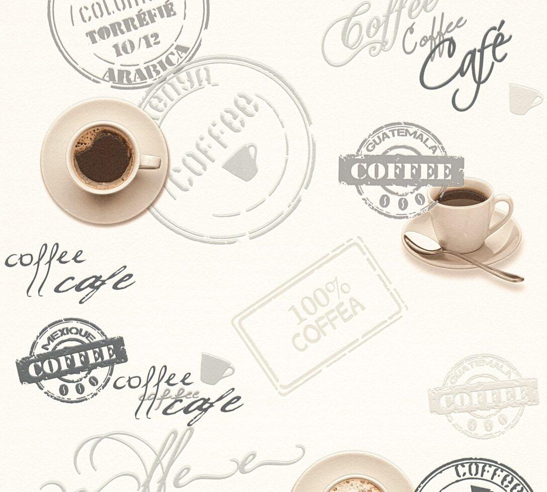 Large Size of Vinyltapete Kche Kaffee Wei Grau 94308 1 Fliesenspiegel Küche Glas Beistelltisch Einbauküche Kaufen Hochschrank Selbst Zusammenstellen Kleiner Tisch Wohnzimmer Tapete Küche Kaffee