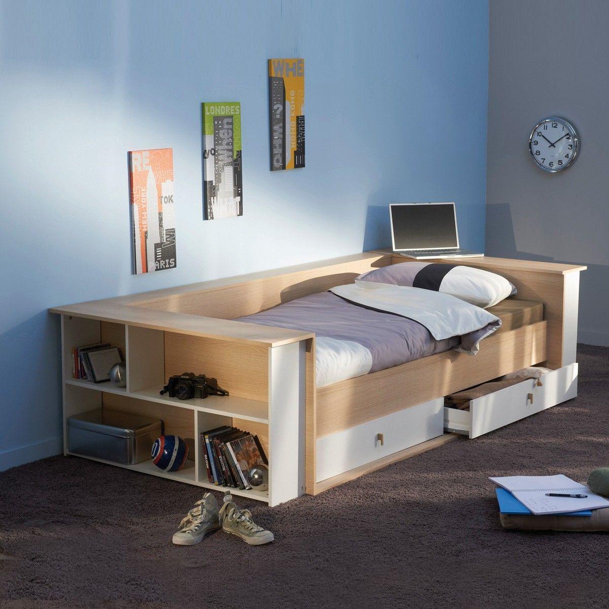 Full Size of Bett Mit Regal 90x200 Weiß Betten Lattenrost Und Matratze Kiefer Weißes Schubladen Bettkasten Wohnzimmer Jugendbett 90x200
