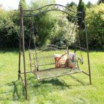 Gartenschaukel Metall Amazonde Dandibo Hollywoodschaukel Antik 2 Sitzer Bett Regal Weiß Regale Wohnzimmer Gartenschaukel Metall