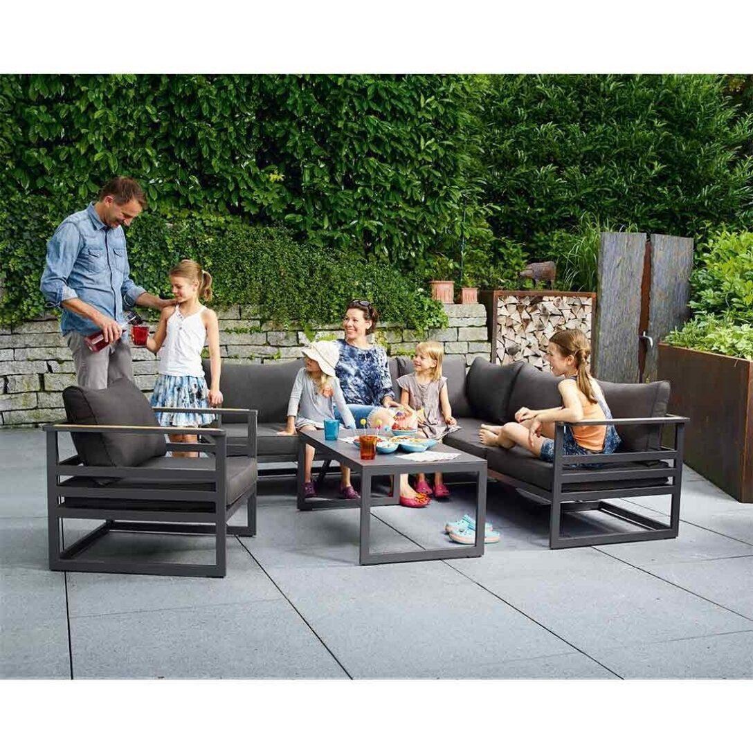 Large Size of Sieger Sydney Loungeecke 3 Teilig Aluminium Sunproof Garten Und Loungemöbel Holz Verbundplatte Küche Fenster Günstig Wohnzimmer Loungemöbel Aluminium