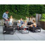 Sieger Sydney Loungeecke 3 Teilig Aluminium Sunproof Garten Und Loungemöbel Holz Verbundplatte Küche Fenster Günstig Wohnzimmer Loungemöbel Aluminium