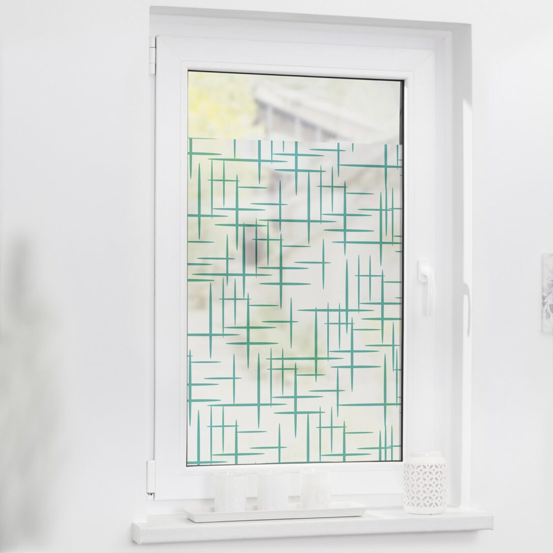 Large Size of Lichtblick Fensterfolie Selbstklebend Mit Sichtschutz Stars Petrol Wohnzimmer Fensterfolie Blickdicht
