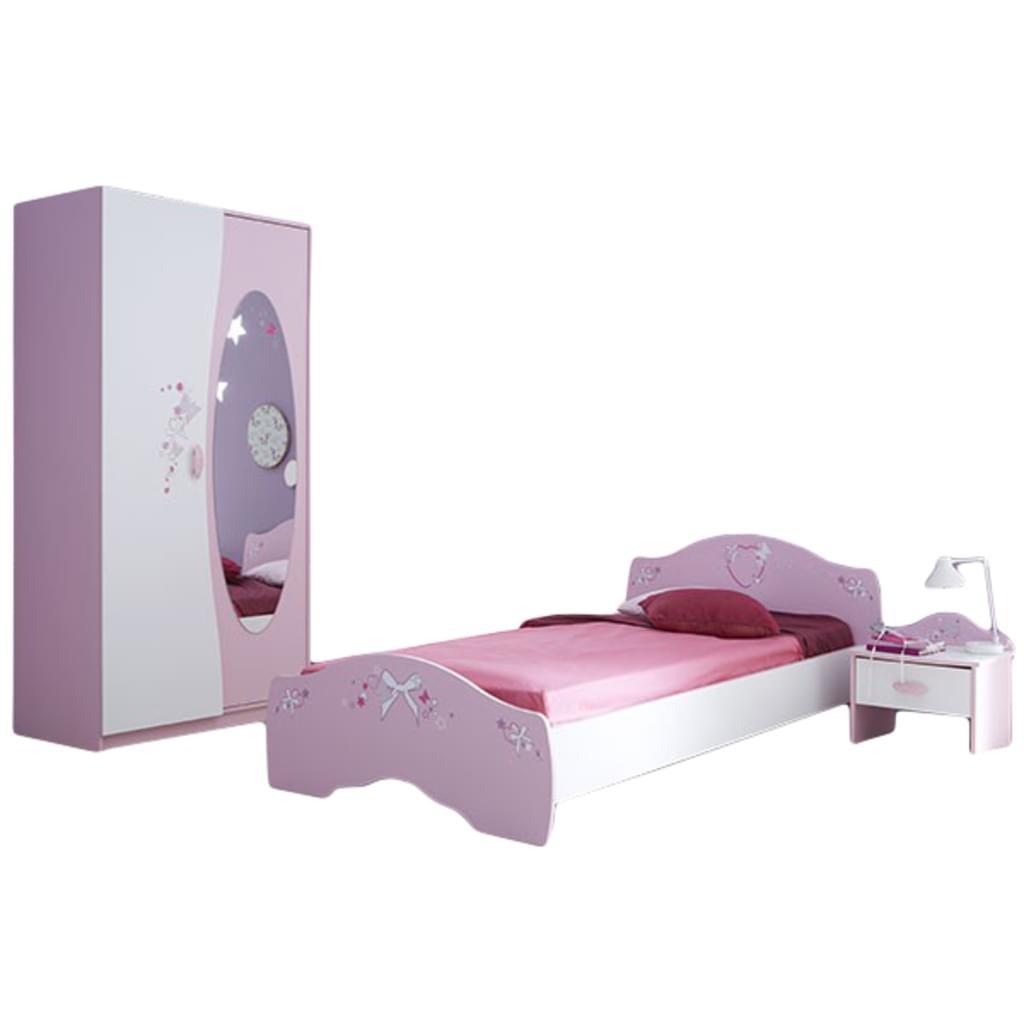 Full Size of Bett 140x200 Rosa Mit Bettkasten Samt Mdchen Kinderzimmer Ava 3 Teilig Wei Na Real Ruf Rauch Betten 180x200 Aufbewahrung Weißes Außergewöhnliche Stauraum Wohnzimmer Bett 140x200 Rosa